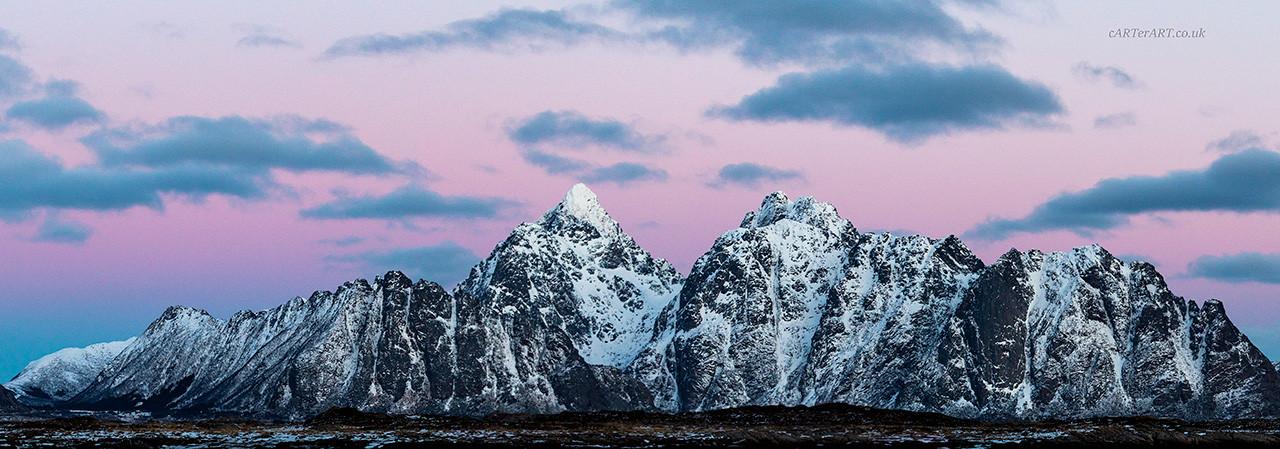 Arctic Pinks Panorama