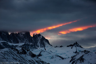 Sun Setting. Andes