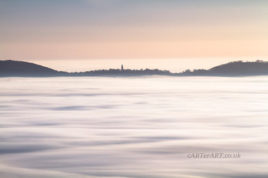 Abberley Tower rising from Mists