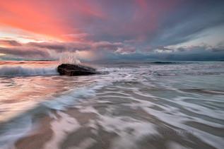 A Splashing Sunset