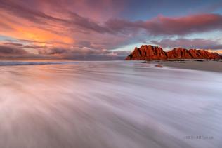 Uttakleiv Beach Sunset