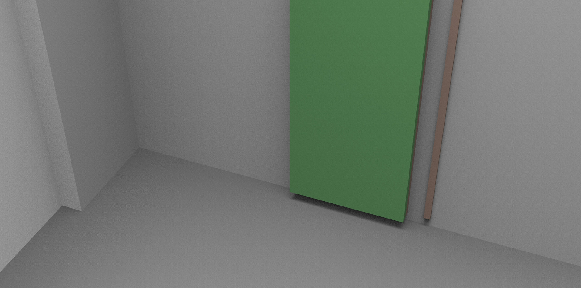 Digital simulation, for an open studio, in the space of Abulafia