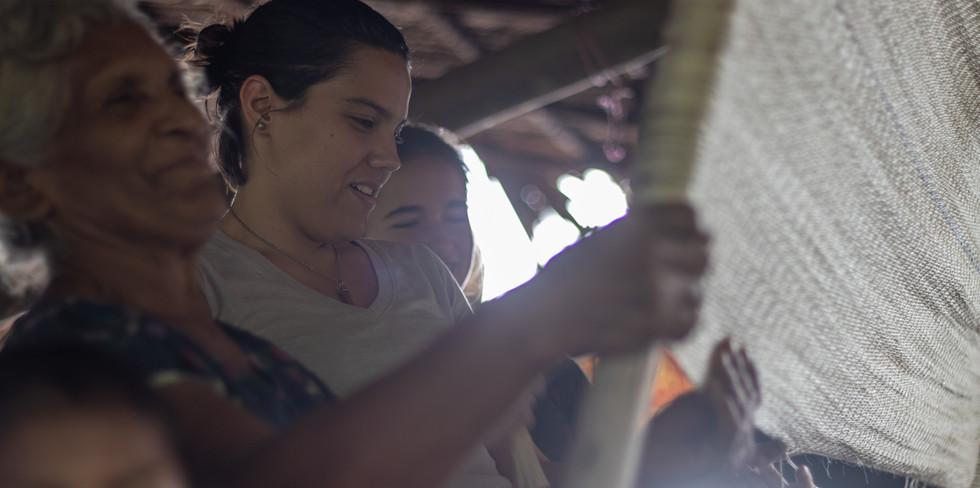 Visita a comunidad Warao