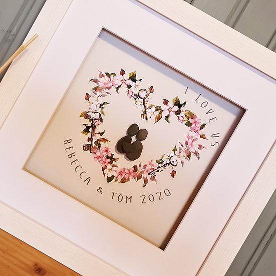 Personalised Valentines Heart Pebble Artwork
