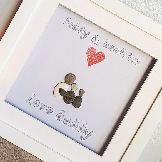 We Love Daddy Fathers Day Pebble Artwork