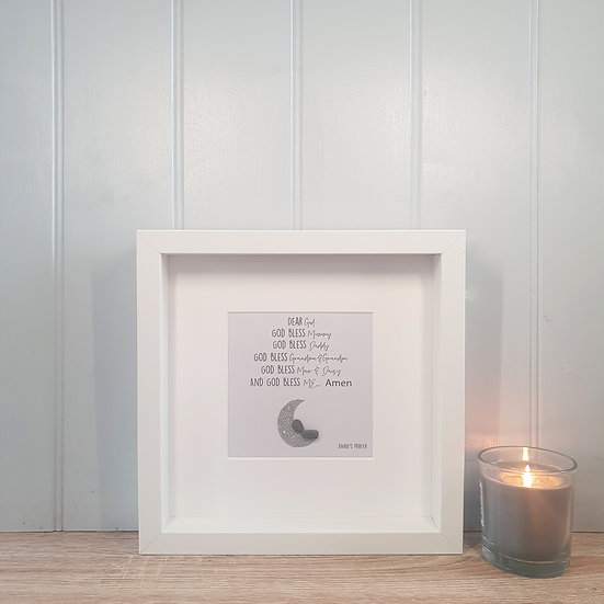 Personalised Child's Prayer Pebble People Box Frame
