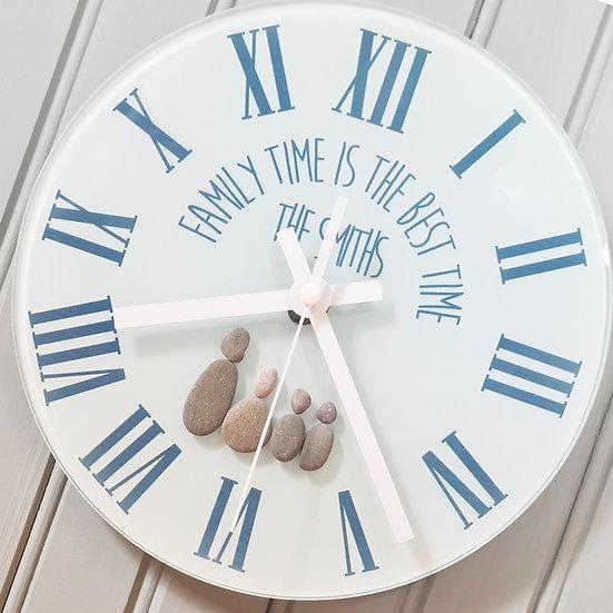 Personalised Pebble Family Wall Clock