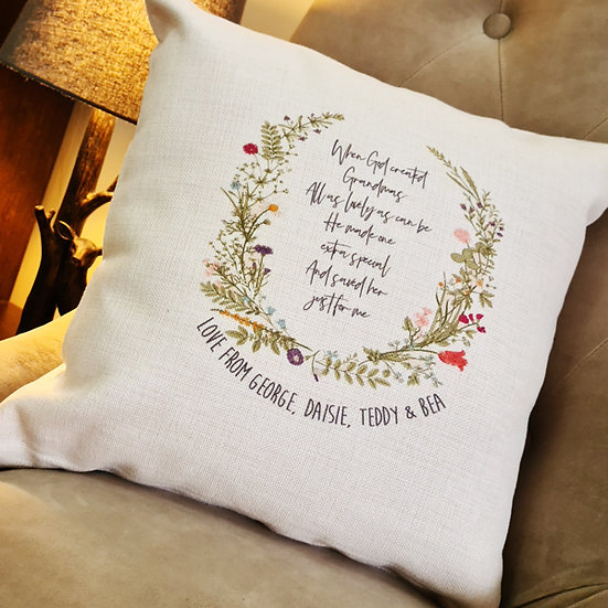 Personalised Cushion For Mum/Grandma On Mothers Day