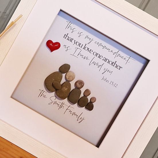 Christian Inspired Pebble Art My Commandment