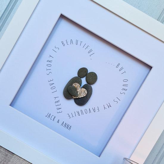 Personalised Pebble Art For Couple/ Wedding/Anniversary