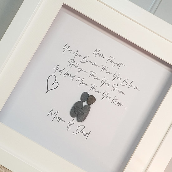 Thinking Of You Mum And Dad Pebble Art