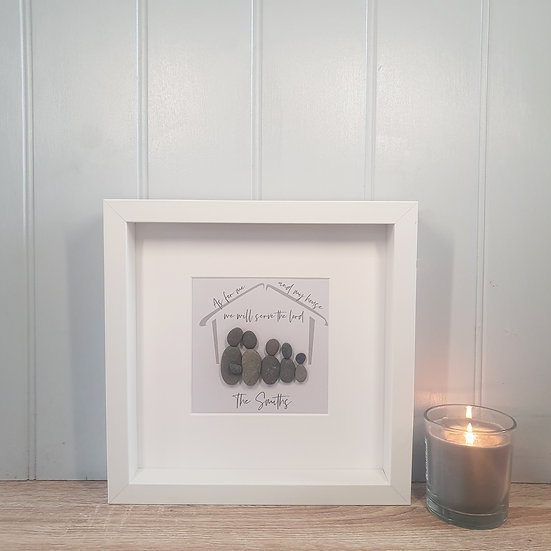 "Personalised ""My House"" Pebble People Box Frame"