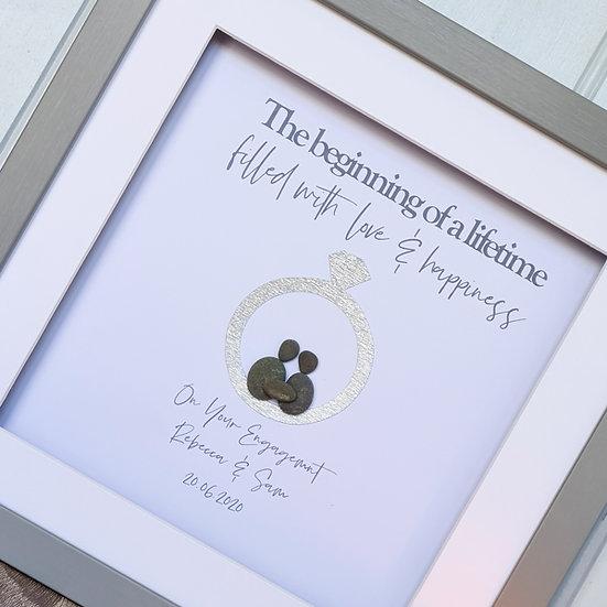 Personalised Engagement Pebble Art