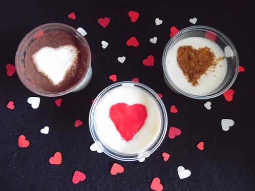 Trio van valentijnsdesserten