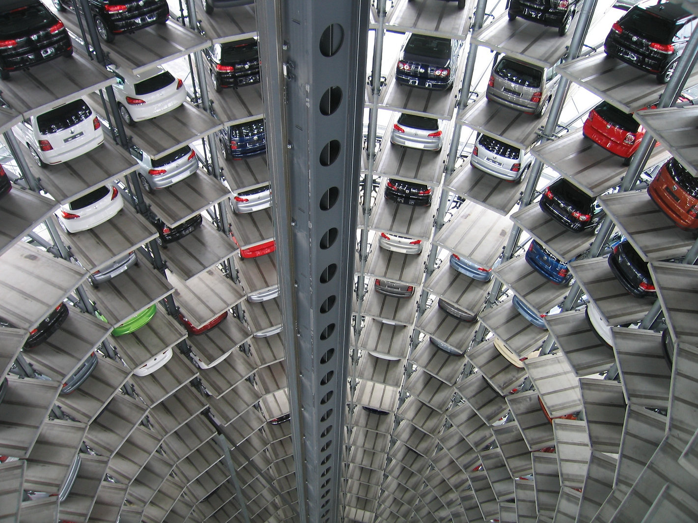 vehicles-parked-inside-elevated-parking-