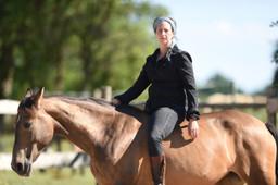 Judith auf Pferd