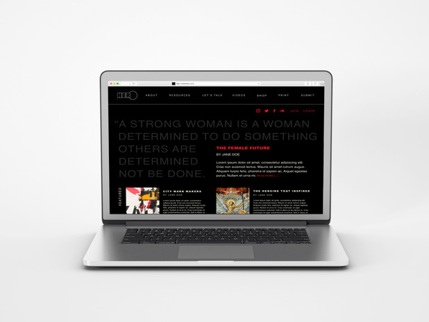 Home page (website).