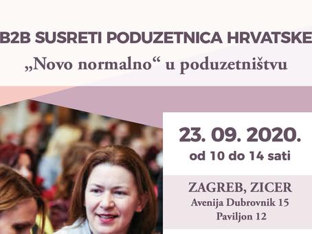 B2B susreti poduzetnica Hrvatske - 23. rujna.2020