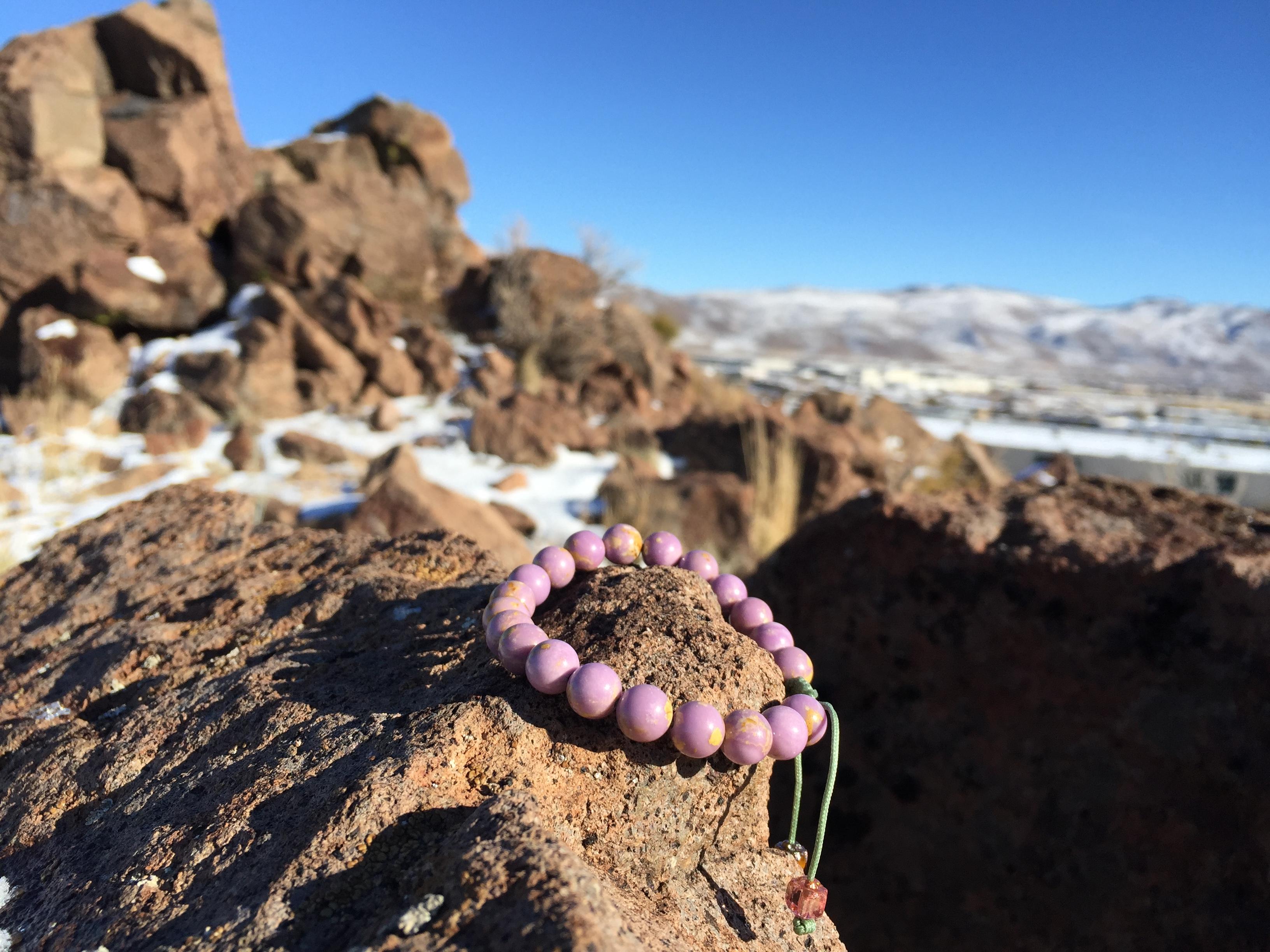 Phosphosiderite bracelet