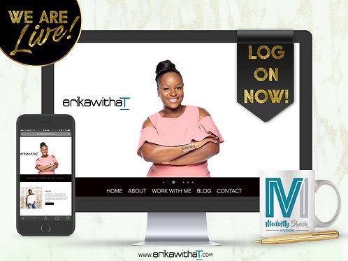 LOGO + BUSINESS CARDS + ECOMMERCE WEBSITE