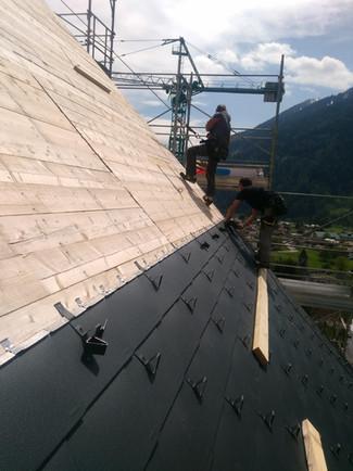copertura tetto Lefay resort - Pinzolo