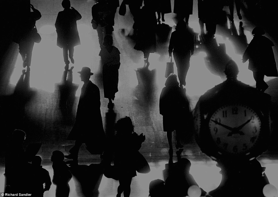 The shadow men- This amazing pictures captures rush hour at the Main Concourse of Grand Central Term