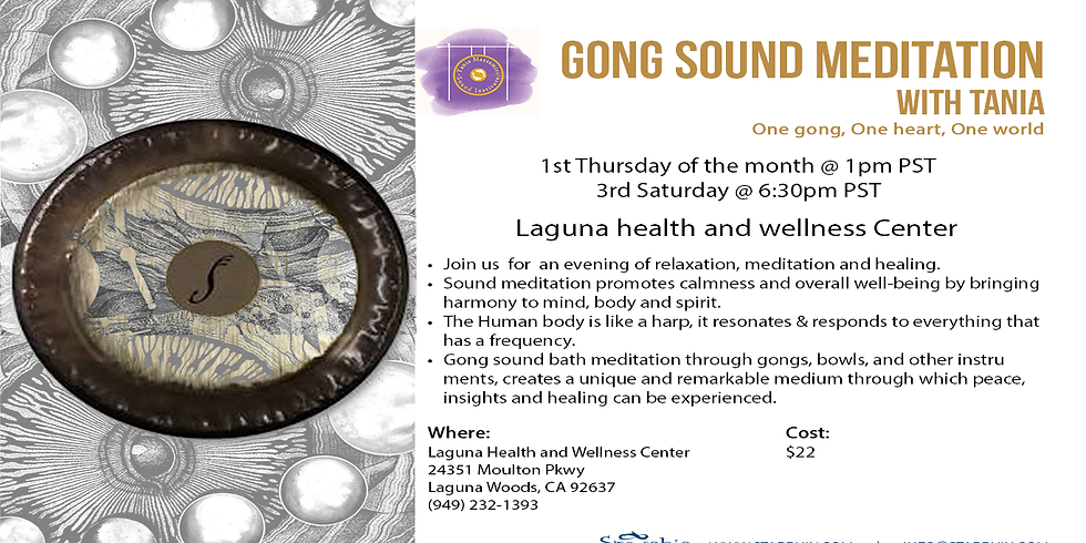 Live Gong Sound Meditation with Tania