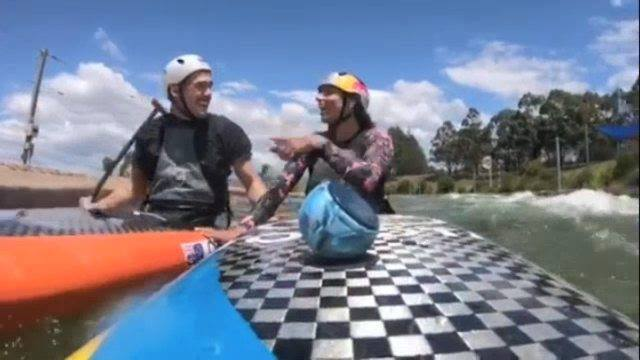 Canoe Slalom training 'sing-a-long' with Jess Fox & Brodie Crawford