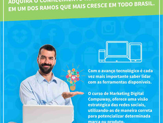 Lançamento de curso: MARKETING DIGITAL