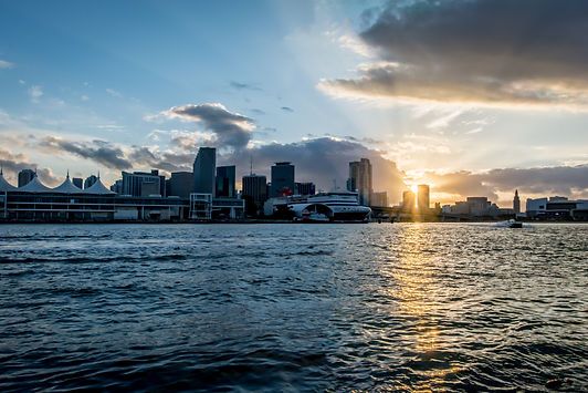 Urban sunset Miami