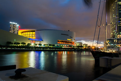 American Airlines Arena at night
