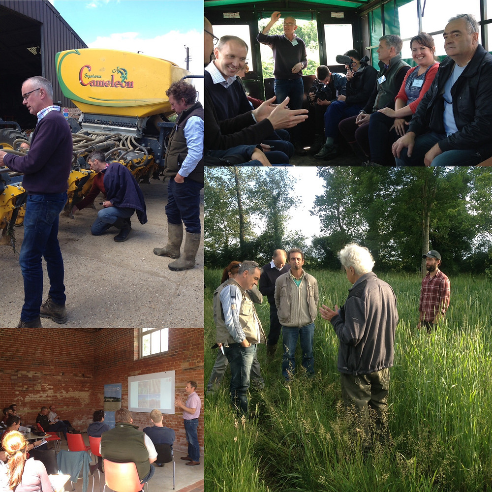 Farmers and researchers from France and the UK enjoying a recent ORC workshop on Intercropping