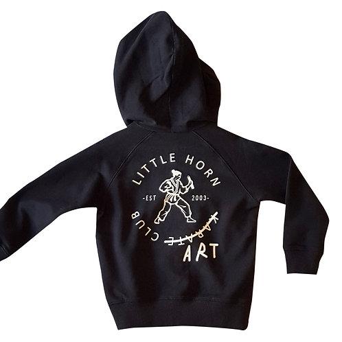 Art Club Zip Thru Black Hoodie