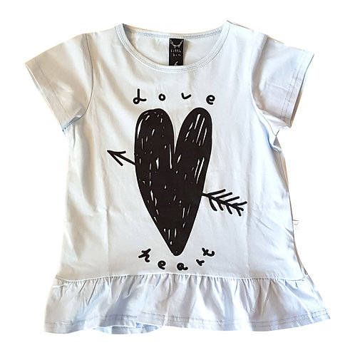 Love Heart Tee Sky Blue