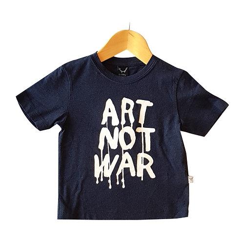 Art Not War Tee Navy