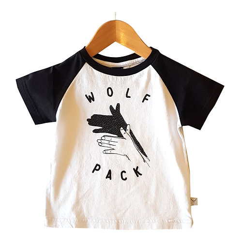 Wolf Pack Tee White & Black