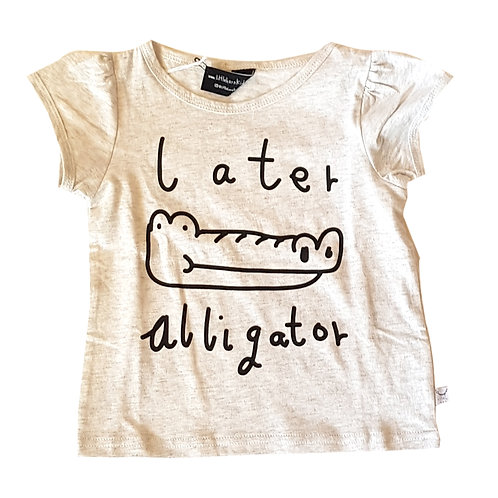 Later Alligator Tee Grey