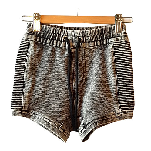 Grey Denim Biker Short