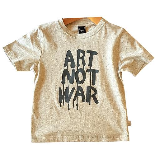 Art Not War Grey Tee