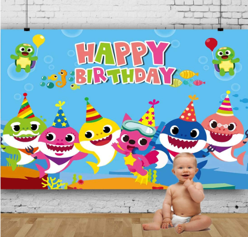 Baby Shark Backdrop
