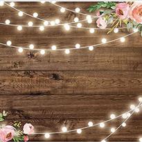 wood flower backdrop