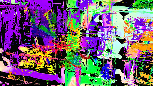 Abstractconglomerationmagenta