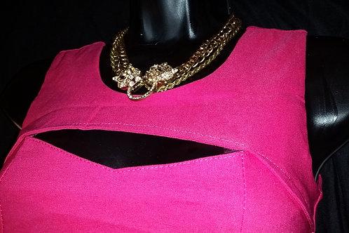 Pink Sexy Hollow Cut Dress