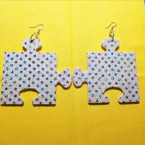 FABB Silver Sequin Puzzle Danglys