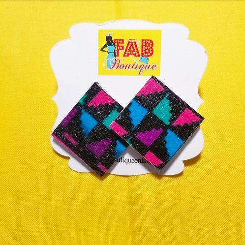 FABB Kaleidoscope Ankara Studs