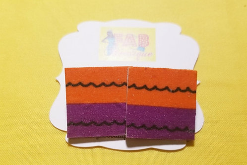 FABB African Sunset Square Studs