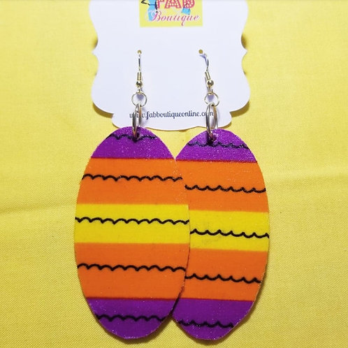 FABB African Sunset Ankara Oval Danglys