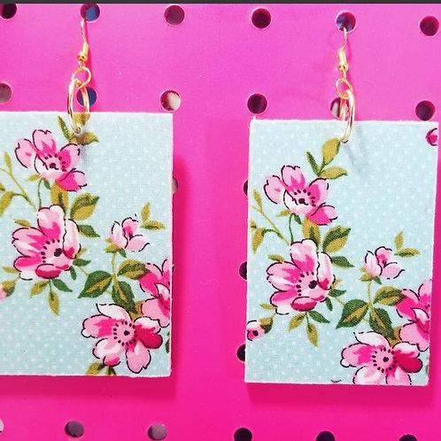 Floral Pretty N Pink Handmade Earrings