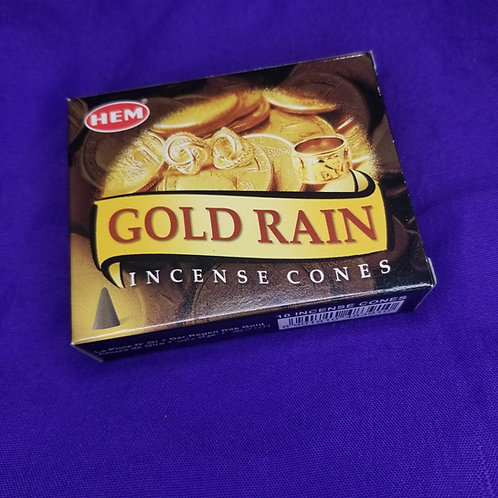 Gold Rain Incense Cones