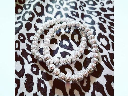 FABB Handmade Silver Ball Bracelet Set